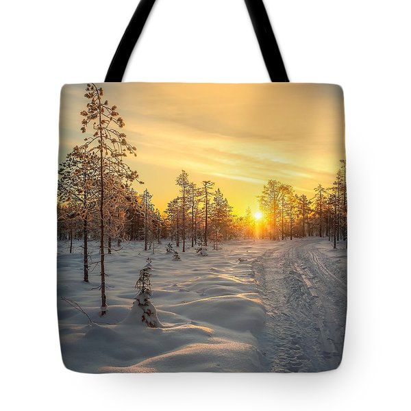 Early Morning Sun Tote Bag by Rose-Maries Pictures