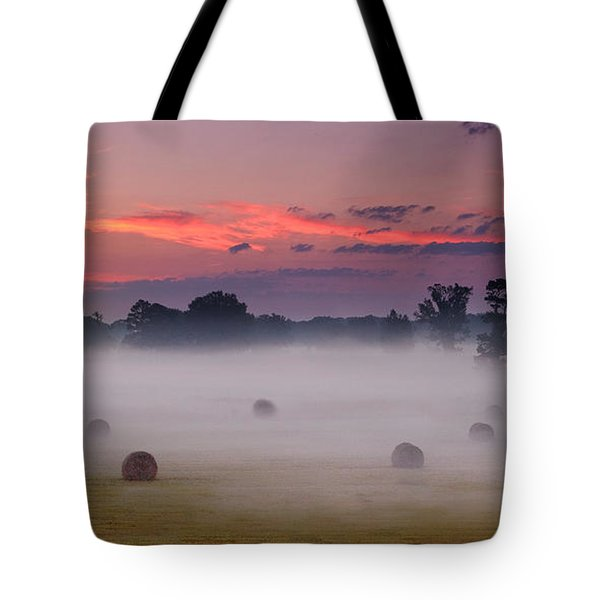 Early Morning Sunrise On The Natchez Trace Parkway In Mississippi Tote Bag