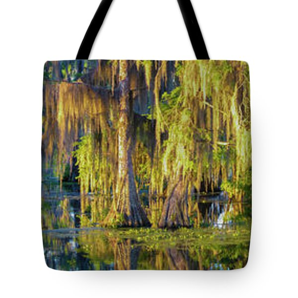 Early Morning Swampscape Tote Bag
