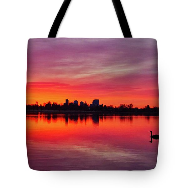 Early Morning Swim Tote Bag