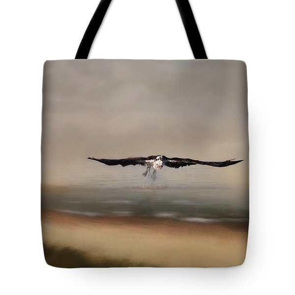 Tote Bag featuring the photograph Early Morning Takeoff by Kim Hojnacki