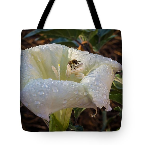 Early Morning Visit Tote Bag