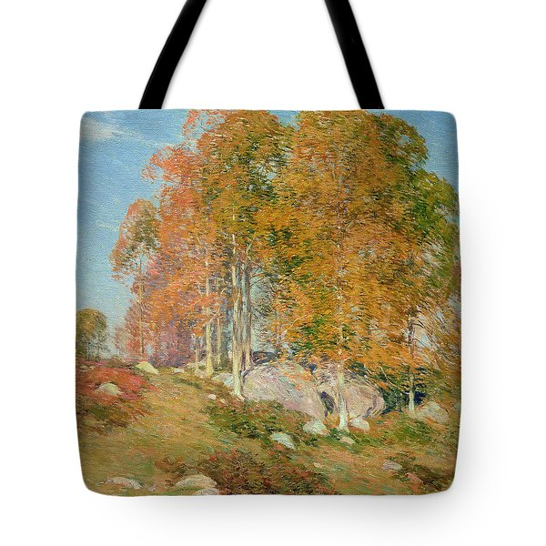 Early October Tote Bag by Willard Leroy Metcalf