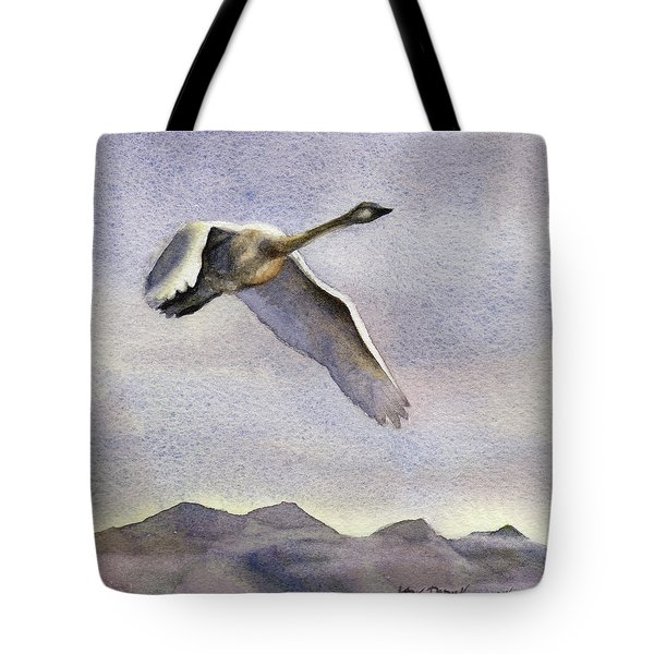 Tote Bag featuring the painting Early Riser by Kris Parins