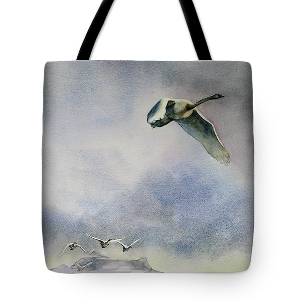 Tote Bag featuring the painting Early Risers by Kris Parins