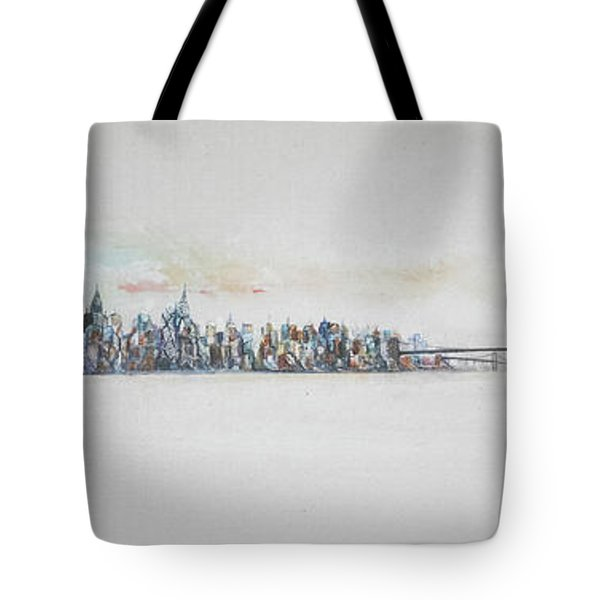 Early Skyline Tote Bag