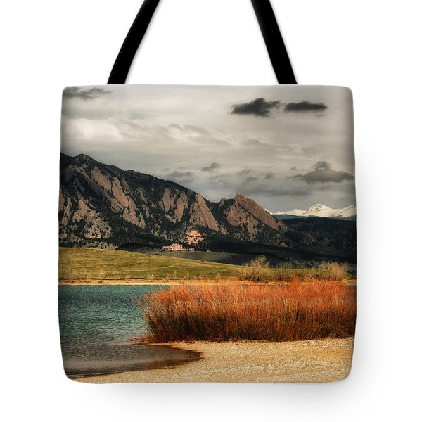 Early Snow On Fall Tote Bag