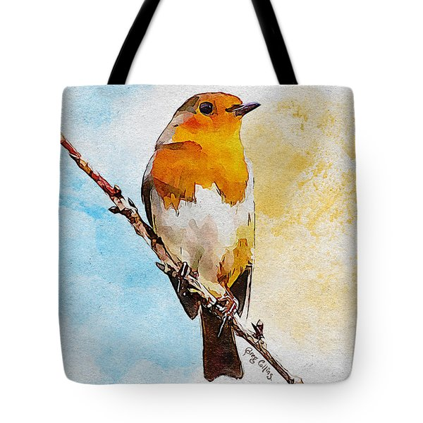 Tote Bag featuring the painting Early Spring by Greg Collins