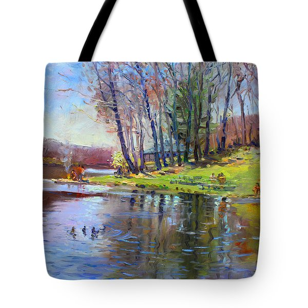 Early Spring In Bear Mountain Tote Bag
