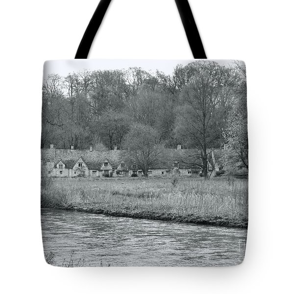 Early Spring In England Black And White Tote Bag