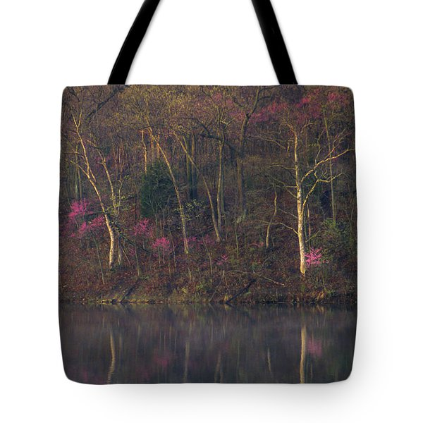 Early Spring Lake Shore Tote Bag