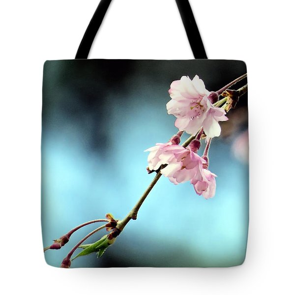 Early Spring Weeping Cherry  Tote Bag by Janice Drew