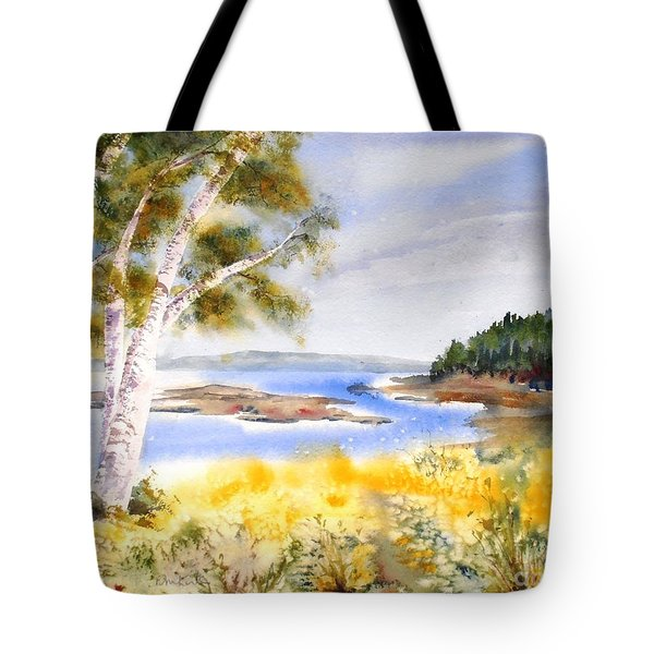 Early Summer Birches Tote Bag