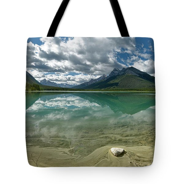 Early Summer Day On Goat Pond Tote Bag by Sebastien Coursol