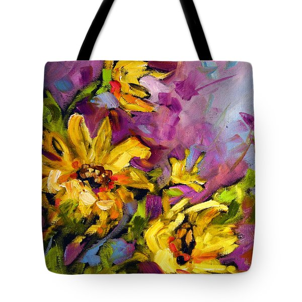 Early Sunflowers Tote Bag
