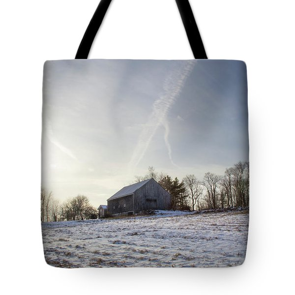 Early Winter Barn Tote Bag