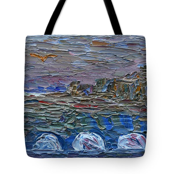 Tote Bag featuring the painting Early Winter In New Jersey by Vadim Levin