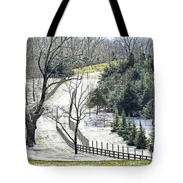 Early Winter Pasture Tote Bag