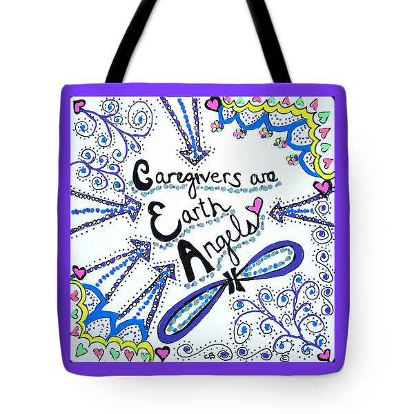 Earth Angel Tote Bag by Carole Brecht