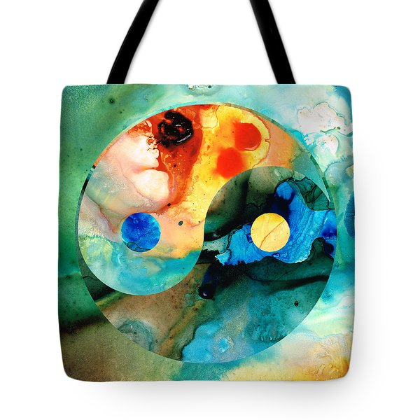 Earth Balance - Yin And Yang Art Tote Bag