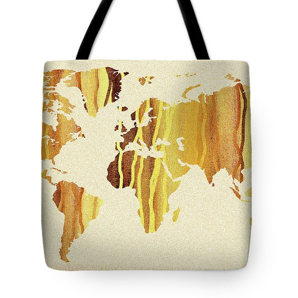 Map of china tote bags fine art america earth canvas watercolor world map tote bag gumiabroncs Choice Image