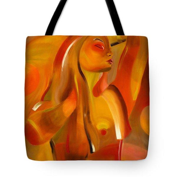 Earth-coloured Tote Bag by Hakon Soreide