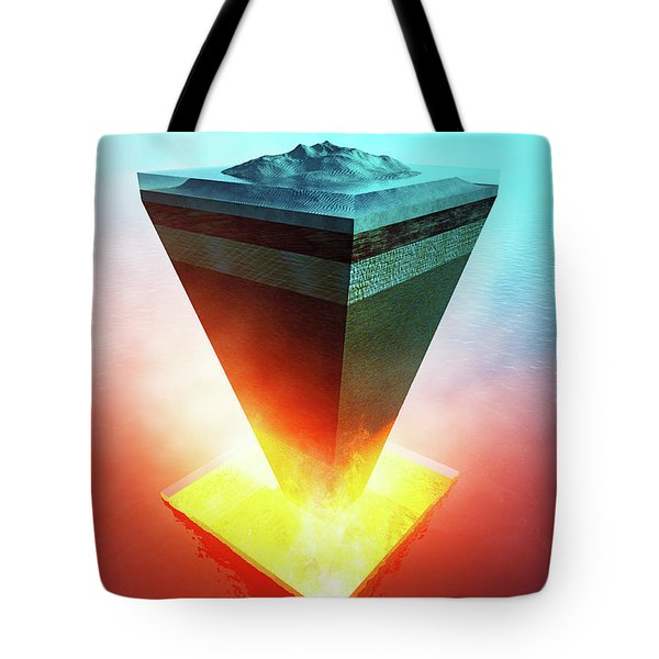 Earth Core Structure Cross-section Tote Bag