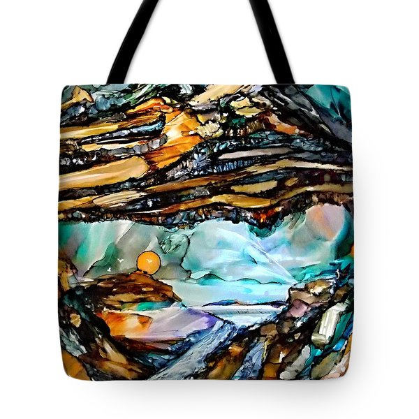 Earth Day Underground Paradise Alcohol Inks Tote Bag