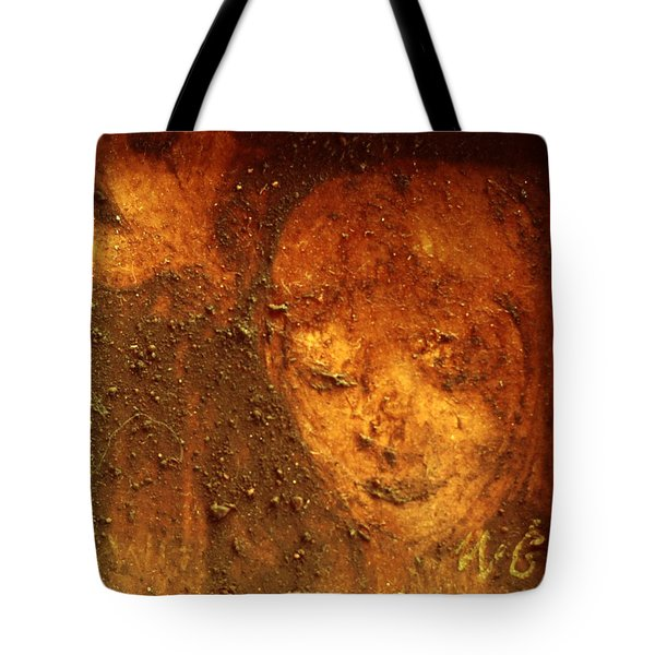 Tote Bag featuring the painting Earth Face by Winsome Gunning