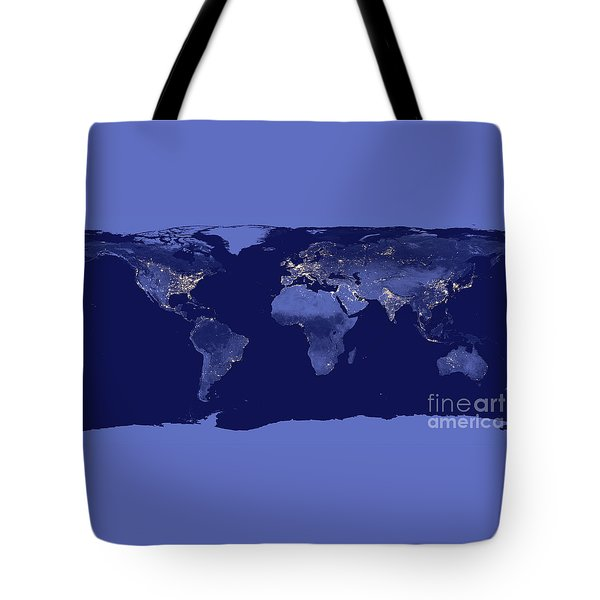 Tote Bag featuring the photograph Earth From Space by Delphimages Photo Creations