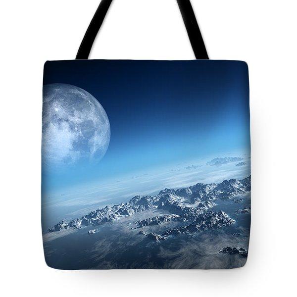 Earth Icy Ocean Aerial View Tote Bag