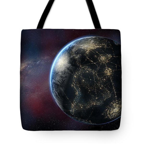 Earth One Day Tote Bag by David Collins