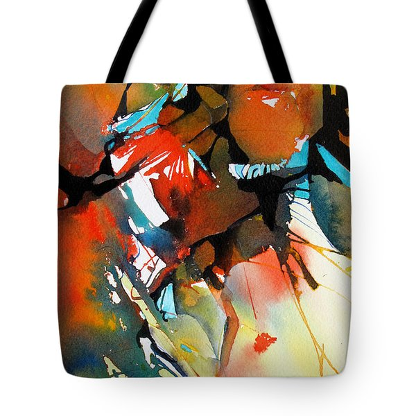 Tote Bag featuring the painting Earth Patterns 2 by Rae Andrews