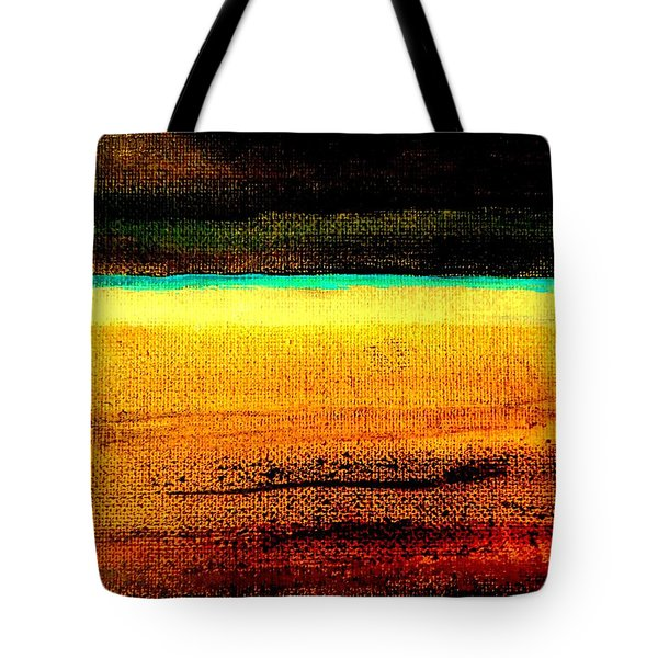 Tote Bag featuring the painting Earth Stories Abstract by VIVA Anderson