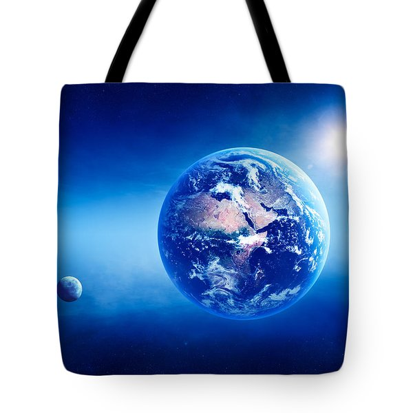 Earth Sunrise Deep Space Tote Bag by Johan Swanepoel