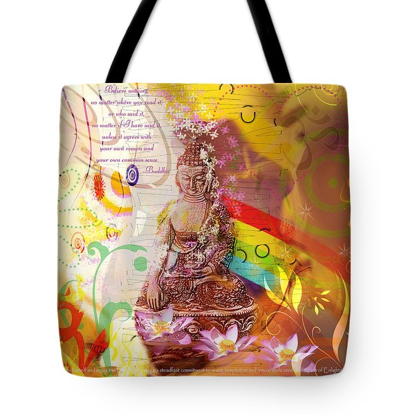 Earth Touching Buddha Tote Bag