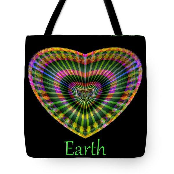 Tote Bag featuring the digital art Earth by Visual Artist Frank Bonilla