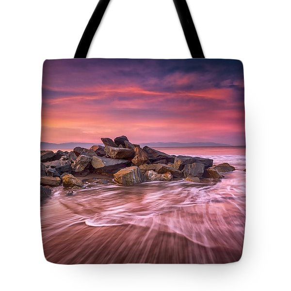 Earth, Water And Sky Tote Bag