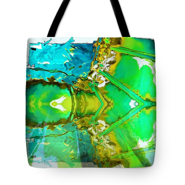 Earth Water Sky Abstract Tote Bag