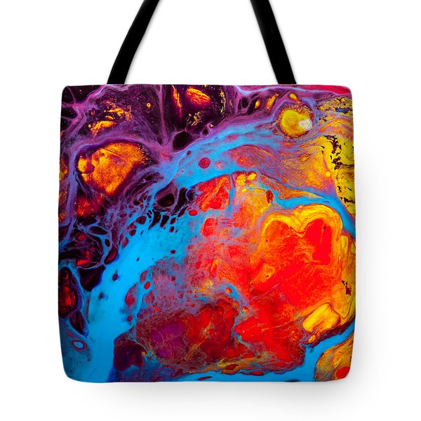 Earth Water Wind Fire - Abstract Painting Tote Bag by Modern Art Prints