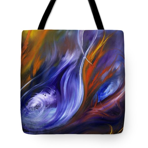 Earth, Wind And Fire Tote Bag by Valerie Travers