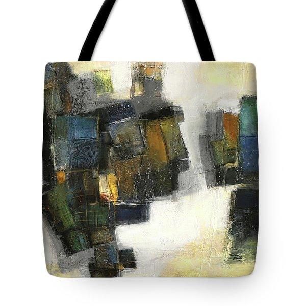 Lemon And Tiles Tote Bag by Behzad Sohrabi