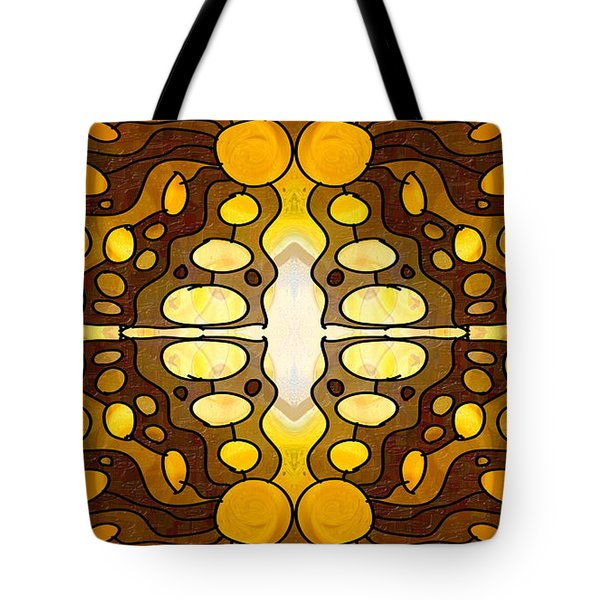 Earthly Awareness Abstract Organic Artwork By Omaste Witkowski Tote Bag