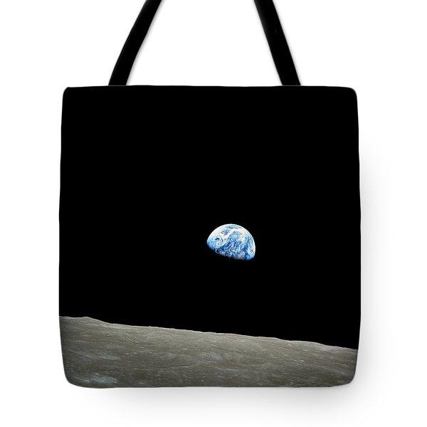 Earthrise - The Original Apollo 8 Color Photograph Tote Bag