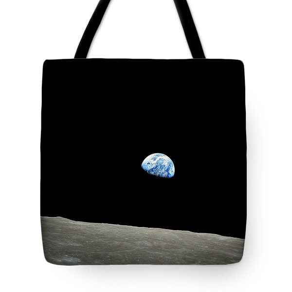 Earthrise - The Original Apollo 8 Color Photograph Tote Bag
