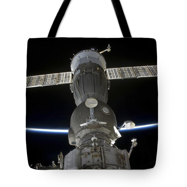 Earths Limb Intersects A Soyuz Tote Bag by Stocktrek Images