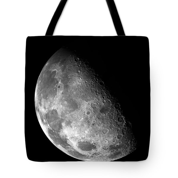 Earth's Moon In Black And White Tote Bag by Jennifer Rondinelli Reilly - Fine Art Photography