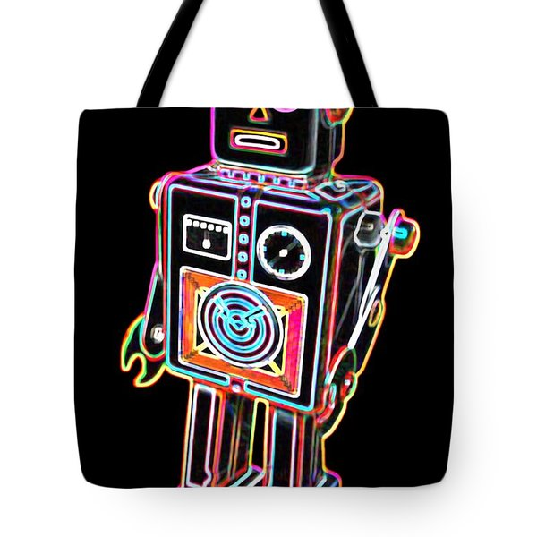 Easel Back Robot Tote Bag by DB Artist