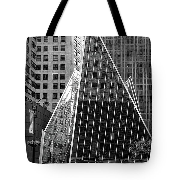 East 42nd Street, New York City  -17663-bw Tote Bag