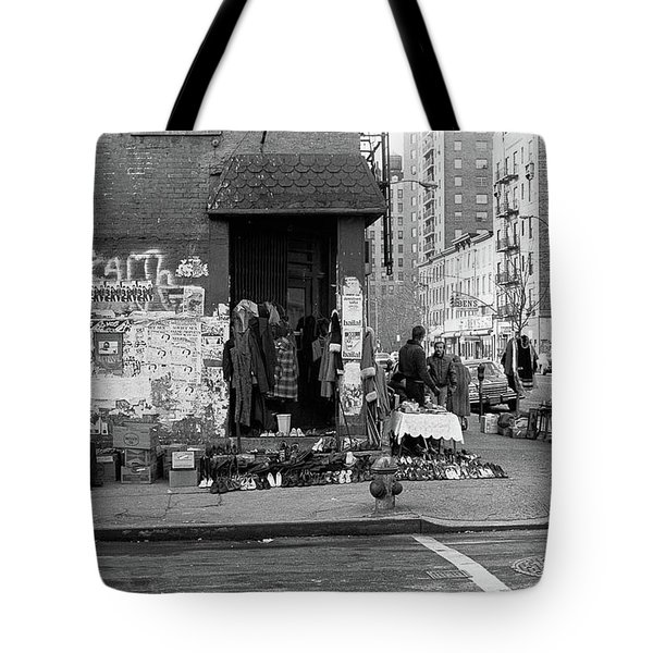 Tote Bag featuring the photograph East 7th Street 1979 by Dave Beckerman